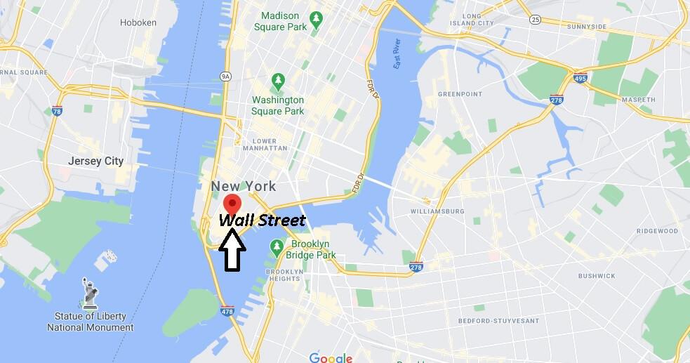 Où se trouve Wall Street