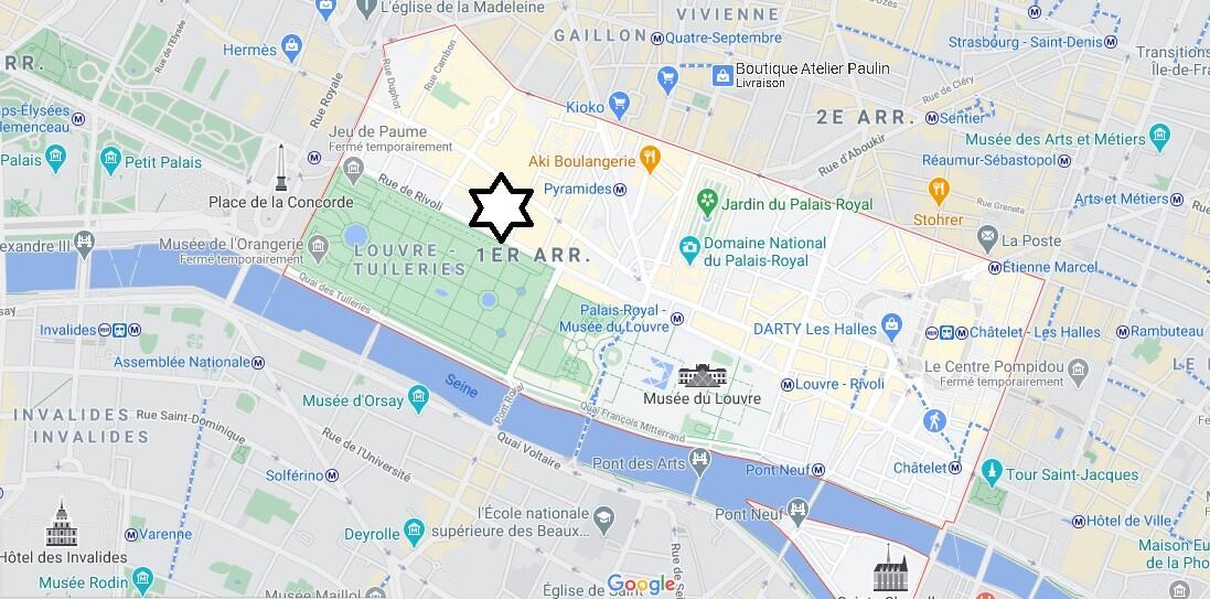 Où se trouve le 1er arrondissement de Paris