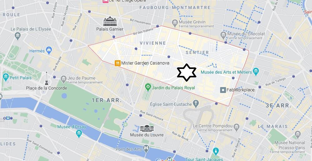 Où se trouve le 2eme arrondissement de Paris