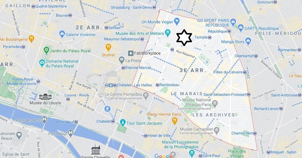 Où se trouve le 3eme arrondissement de Paris