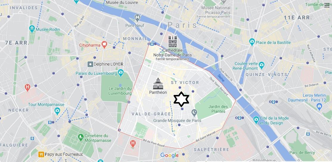 Où se trouve le 5e Arrondissement de Paris