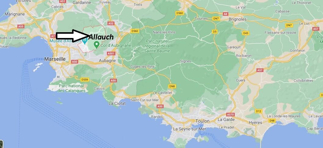 Où se situe Allauch