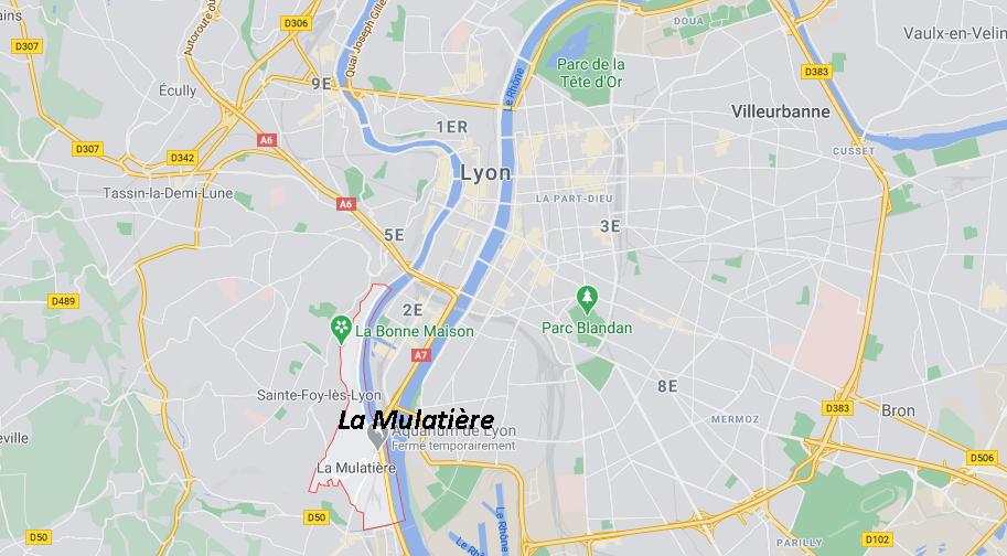 Où se situe La Mulatière