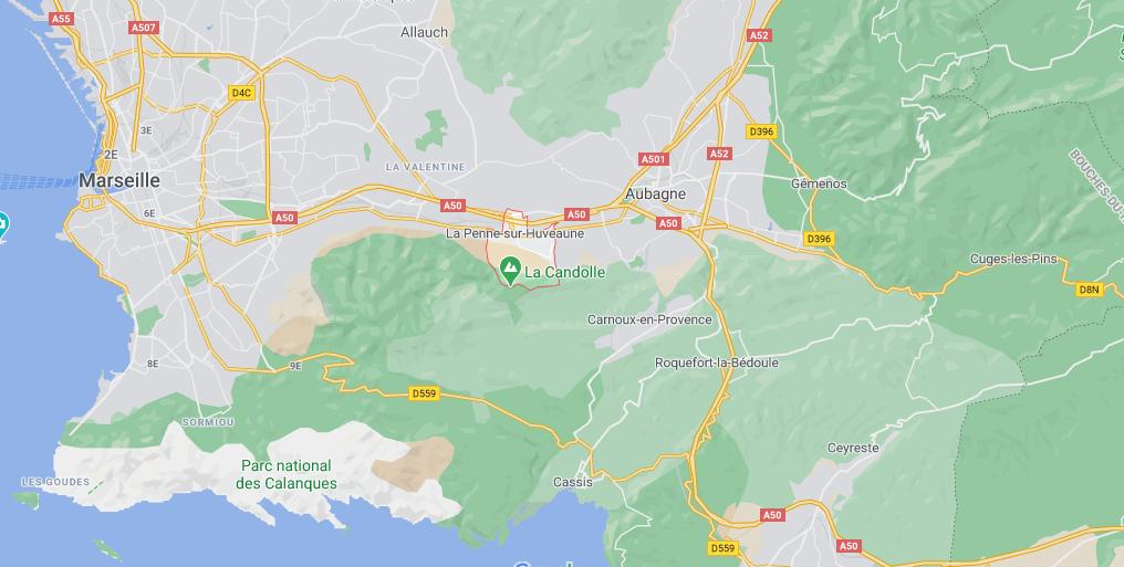 Où se situe La Penne-sur-Huveaune