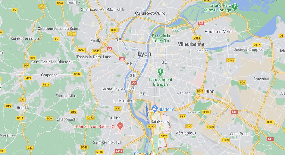 Où se situe Saint-Fons