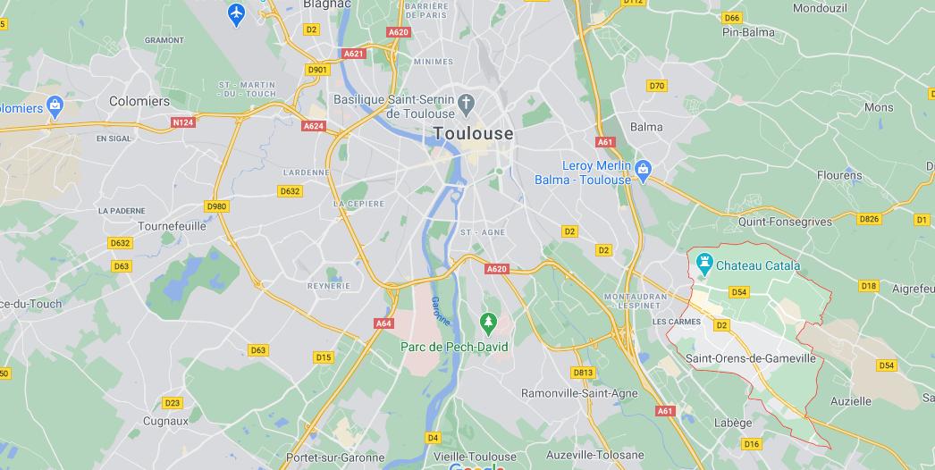 Où se situe Saint-Orens-de-Gameville