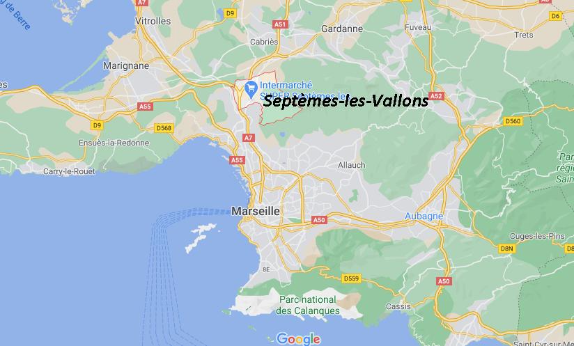 Où se situe Septèmes-les-Vallons