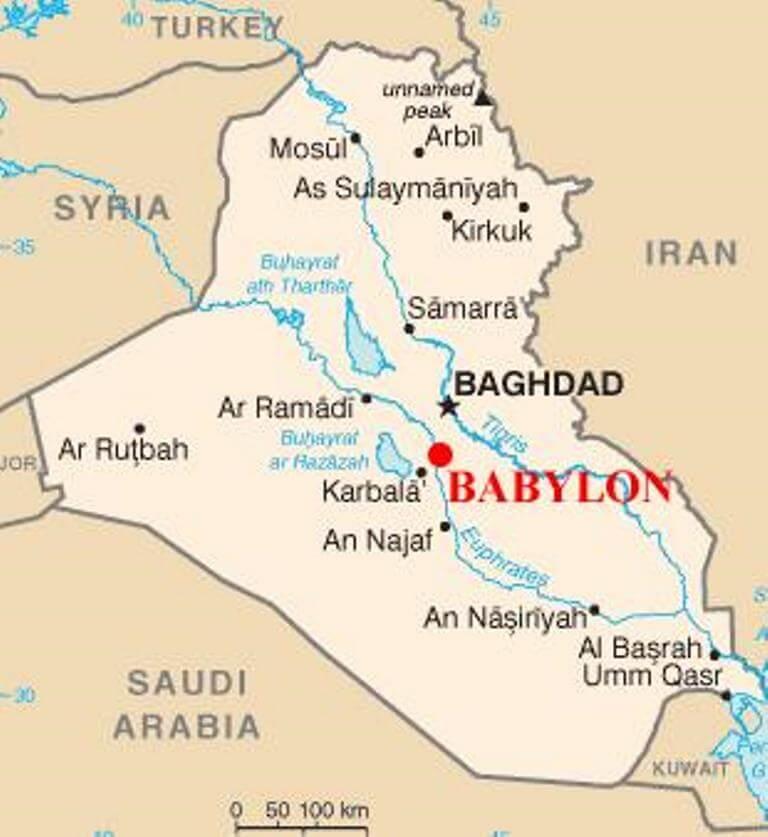 Où se trouve Babylone