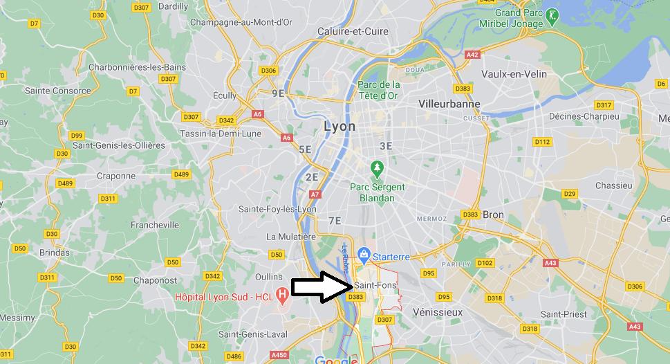 Où se trouve Saint-Fons
