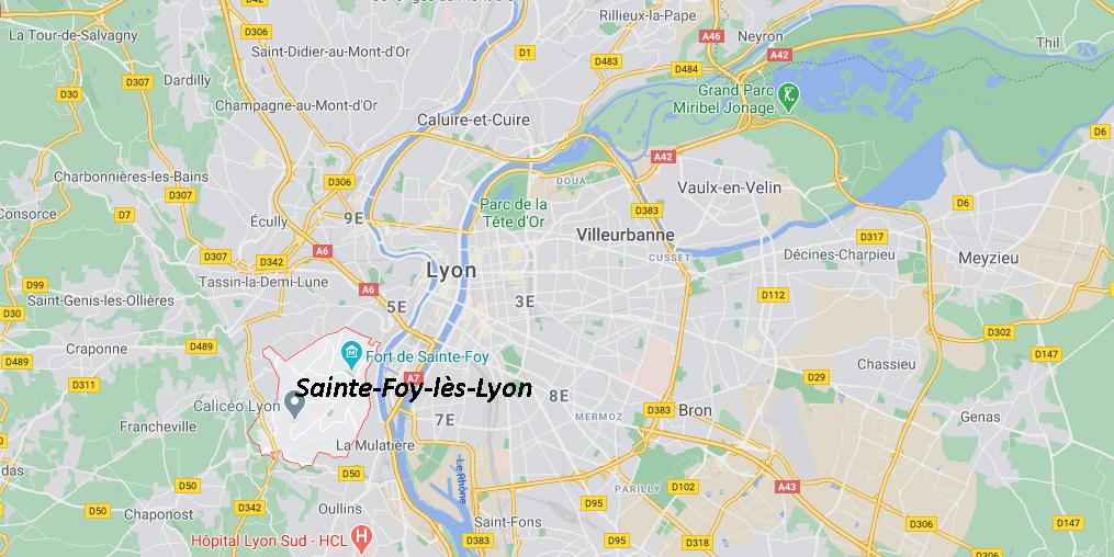 Où se trouve Sainte-Foy-lès-Lyon