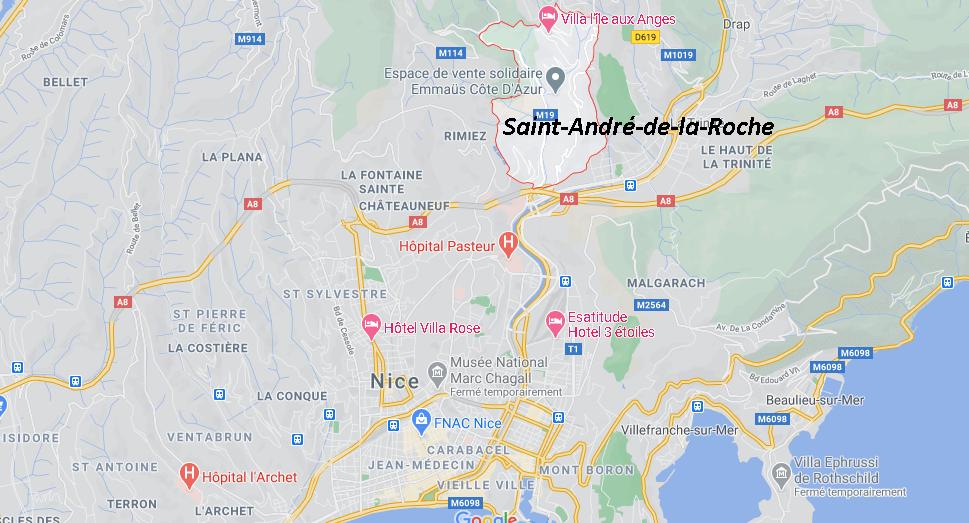 Où se situe Saint-André-de-la-Roche (Code postal 06730)