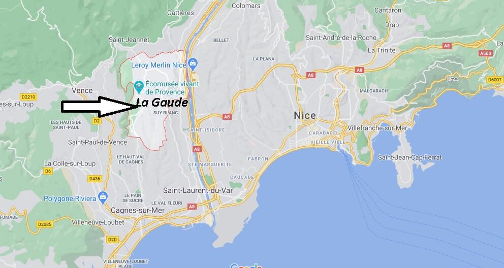Où se trouve La Gaude