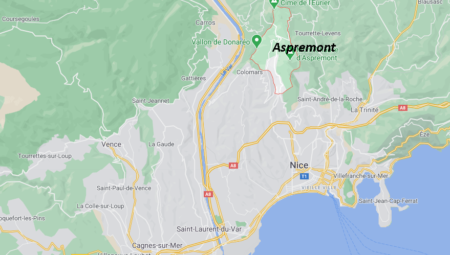 Où se situe Aspremont (Code postal 06006)