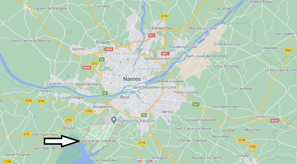 Où se situe Saint-Aignan-Grandlieu