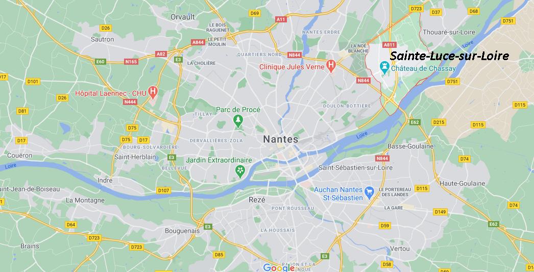 Où se situe Sainte-Luce-sur-Loire (Code postal 44172)