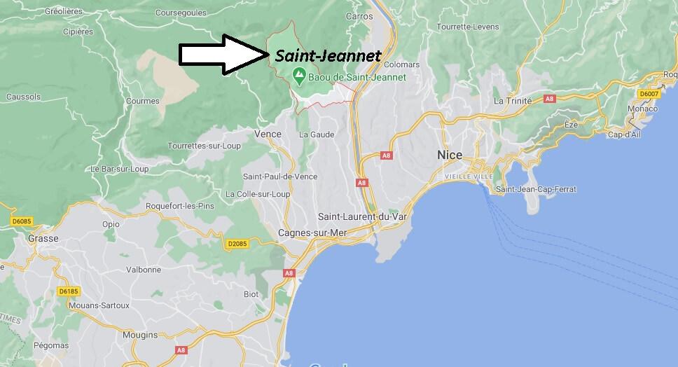 Où se trouve Saint-Jeannet