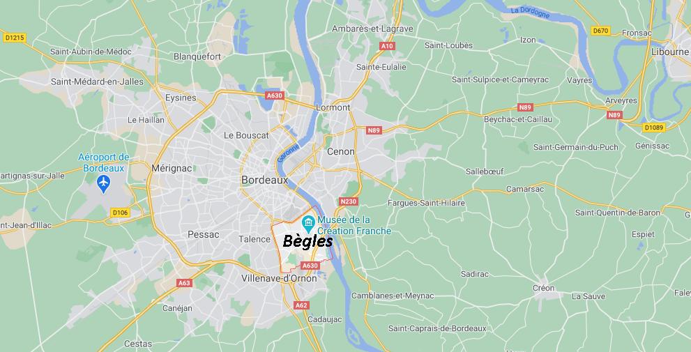 Dans quelle région se trouve Bègles