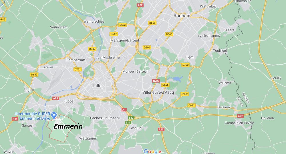 Dans quelle région se trouve Emmerin