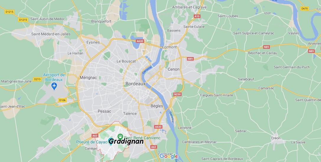 Dans quelle région se trouve Gradignan