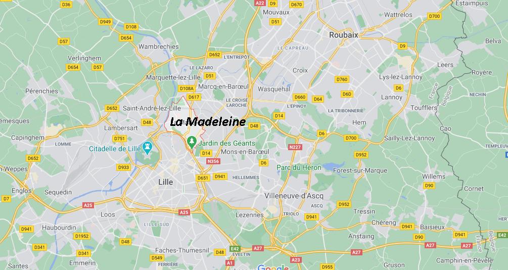 Dans quelle région se trouve La Madeleine