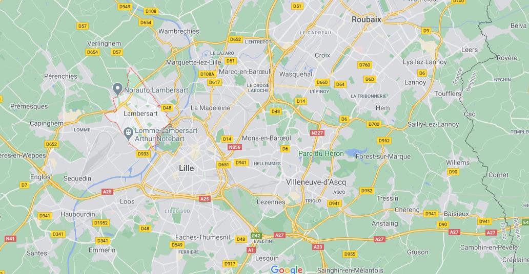 Dans quelle région se trouve Lambersart