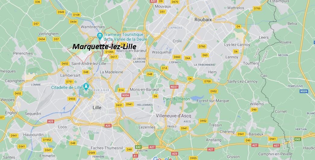 Dans quelle région se trouve Marquette-lez-Lille