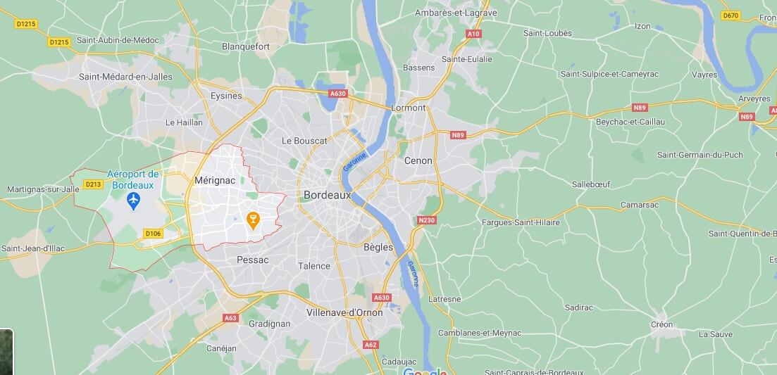 Dans quelle région se trouve Mérignac