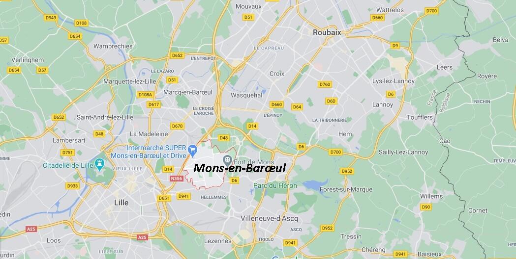 Dans quelle région se trouve Mons-en-Barœul