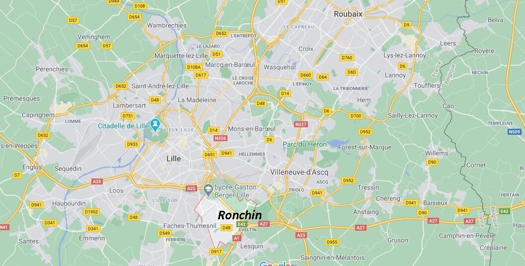Dans quelle région se trouve Ronchin