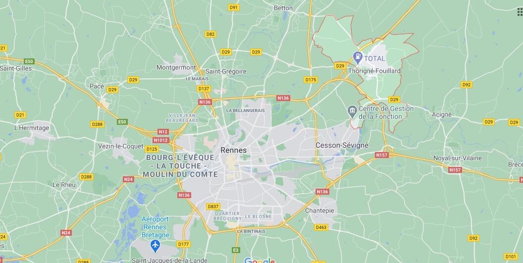 Dans quelle région se trouve Thorigné-Fouillard
