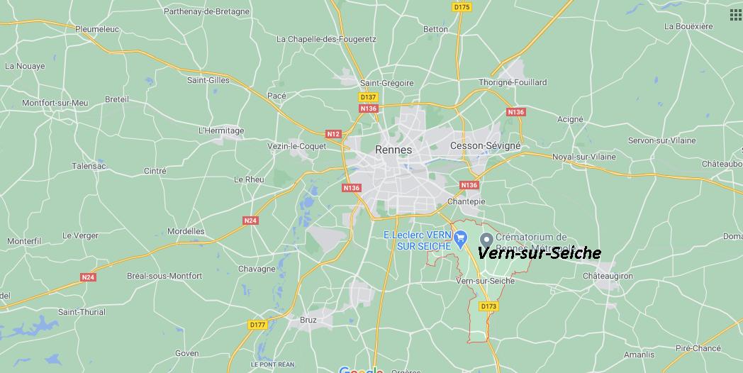 Dans quelle région se trouve Vern-sur-Seiche