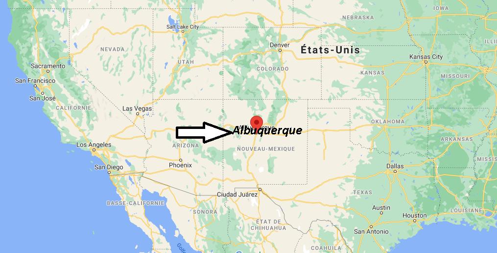 Où se situe Albuquerque