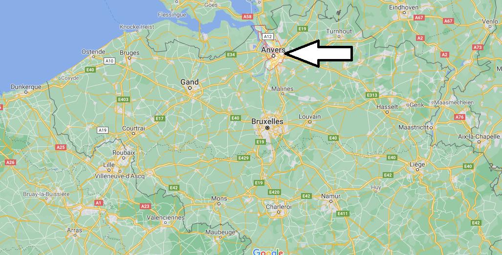 Où se situe Anvers