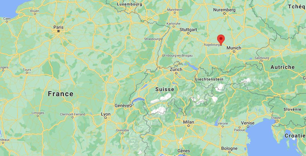 Où se situe Augsbourg