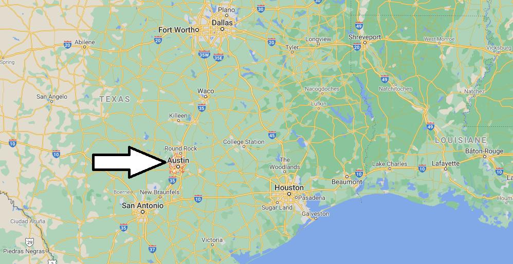 Où se situe Austin