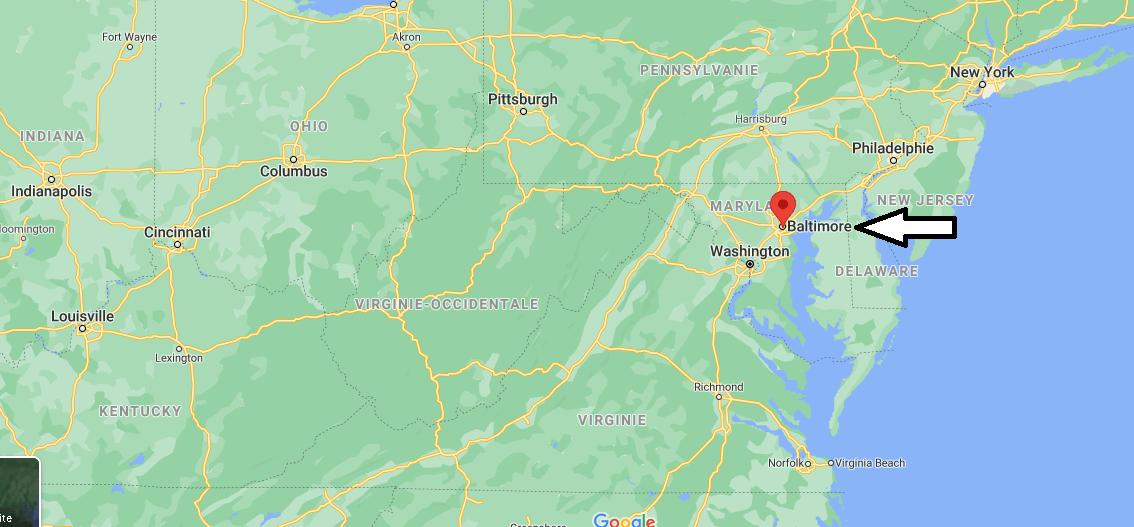 Où se situe Baltimore