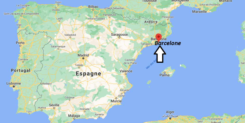 Où se situe Barcelone