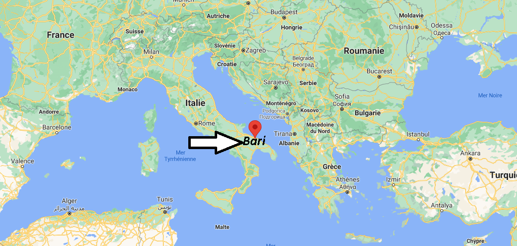 Où se situe Bari