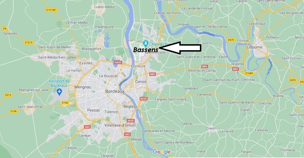 Où se situe Bassens (33032)