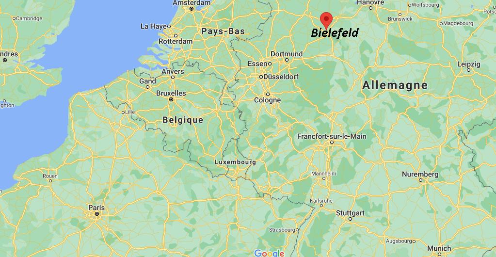 Où se situe Bielefeld