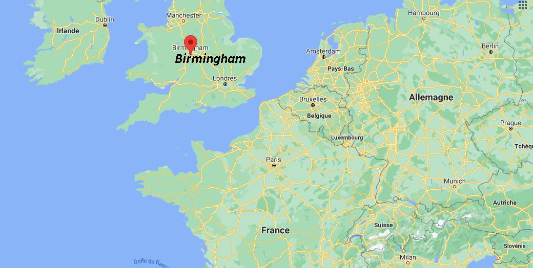 Où se situe Birmingham