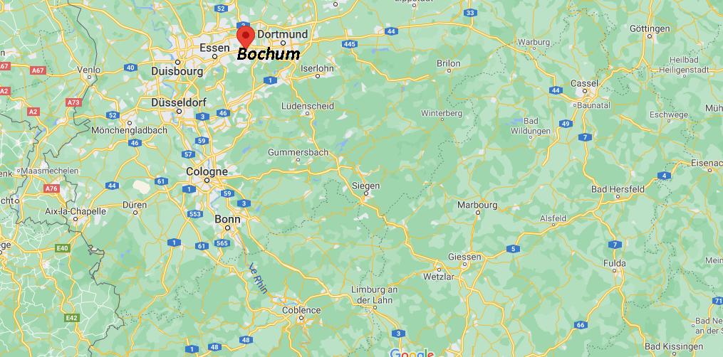 Où se situe Bochum