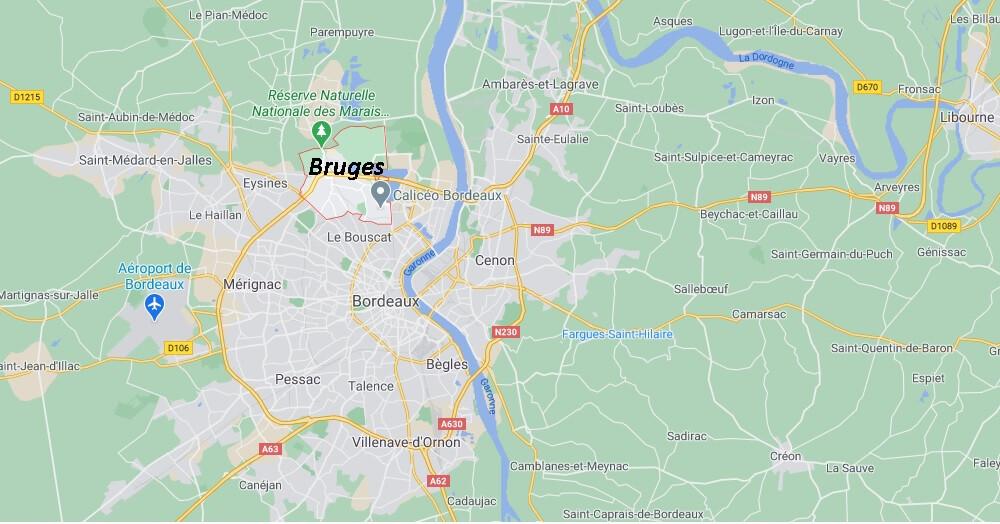Où se situe Bruges (33700)