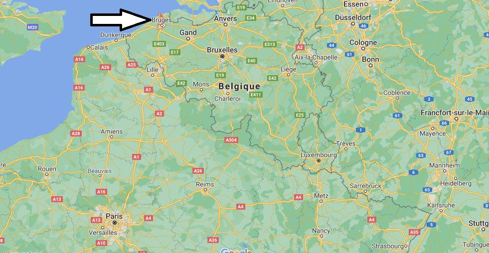 Où se situe Bruges