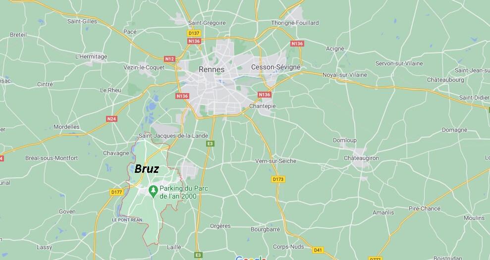 Où se situe Bruz (35170)
