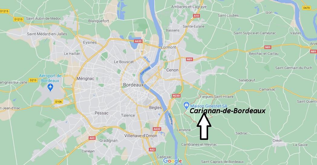 Où se situe Carignan-de-Bordeaux (33360)