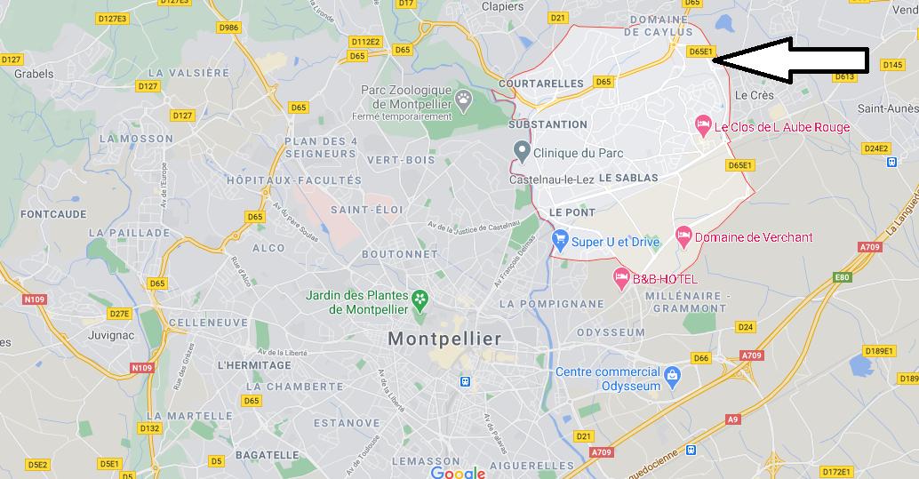 Où se situe Castelnau-le-Lez (34170)