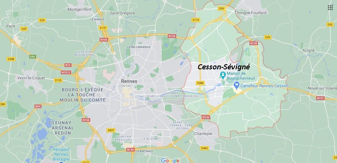 Où se situe Cesson-Sévigné (35510)