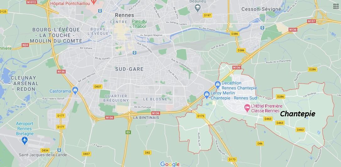 Où se situe Chantepie (35135)