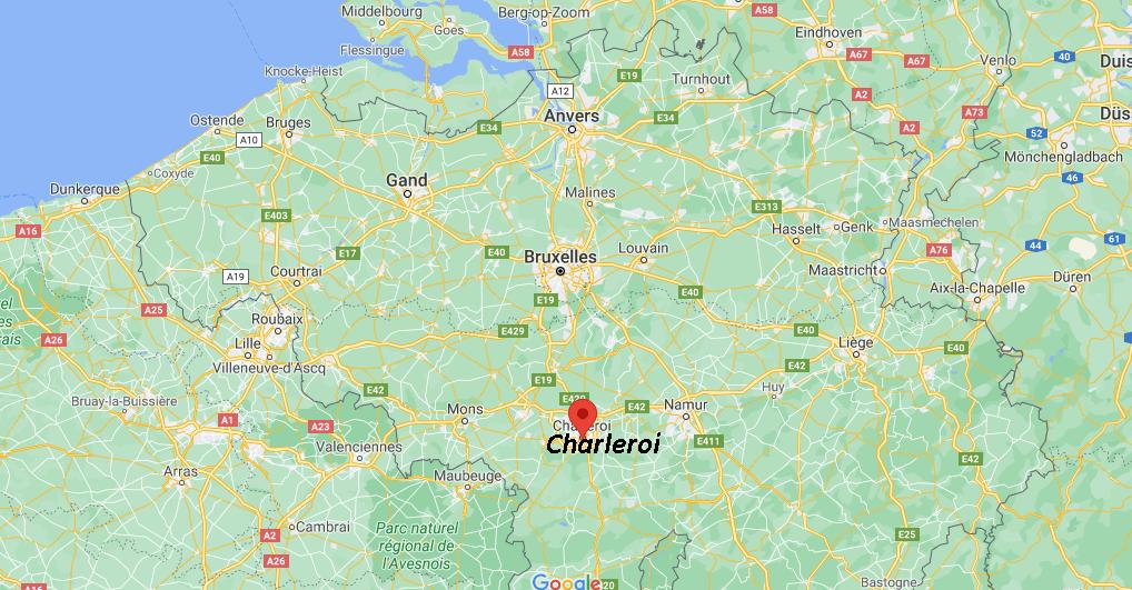 Où se situe Charleroi